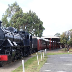 The engine and train