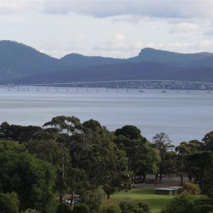 Views of the City and Tasman Bridge from the park