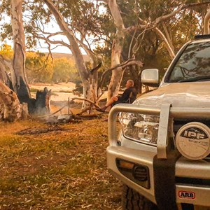 Camped on the river bank at Bulli Pool (Oct 2020)