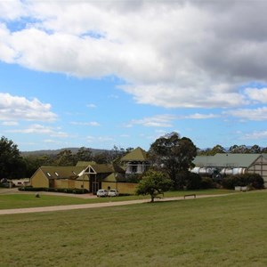 Winery area viewed from access road