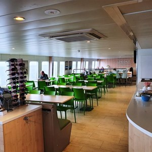 Dining area on the ferry