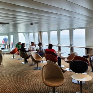 The lounge area on the ferry