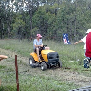 Watsons Creek Ride On Mower Race Australia Day 2010