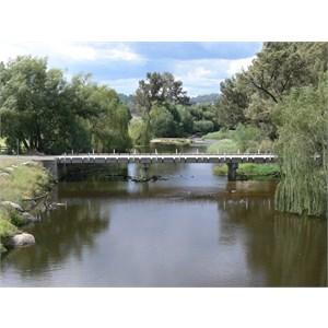 Low level bridge across the Macdonald River