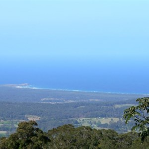 view from Mt. Coramba, east to Sapphire Beach