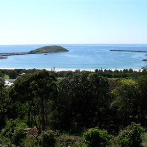 The harbour and Muttonbird Island