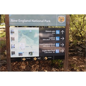 Information sign at the summit