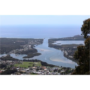 The mouth of the Camden Haven River from the North Brother lookout