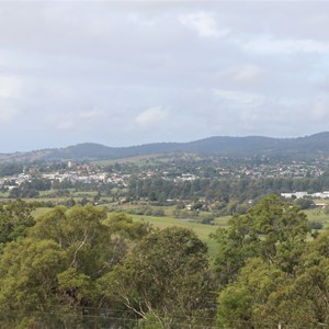 A view of Bega from the Lookout in March 2018