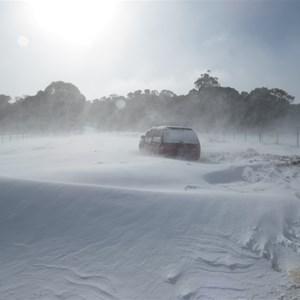 Stuck in snowdrift