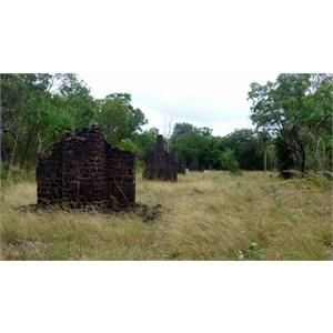 Settlement ruins.