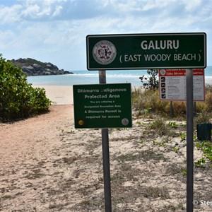 Galuru (East Woody Beach )