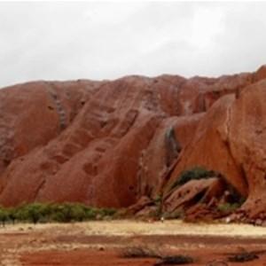Bad weather at Uluru