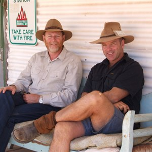 Andrew Harper and Stephen at Old Andado