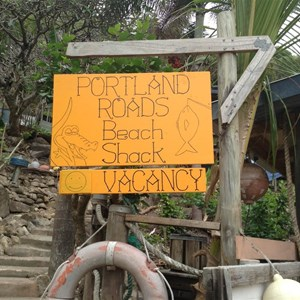 Entrance to the beach shack