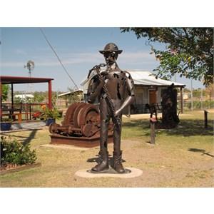 Statue at info centre