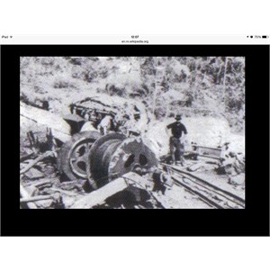 Damage to Mine winching gear after the 1921 explosion.