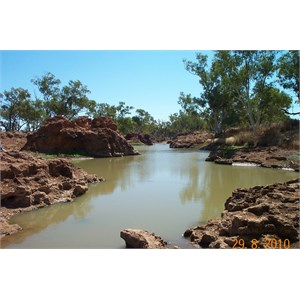 Waterhole at Old Police Barracks outside Boulia