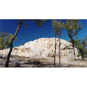 The White Blow. A quartz outcrop outside town.