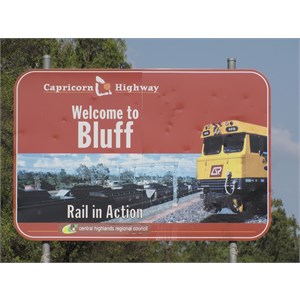 The rail hub of Bluff