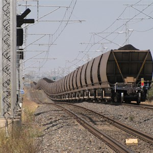 Telephoto of coal train