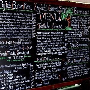 Byfield General Store has an extensive menu