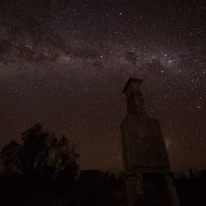 Annandale Station under a Milky Way