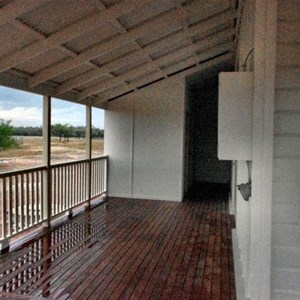 WIDE VERANDAHS TO ROLL YOUR SWAG OUT ON