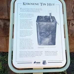 Information on kerosene tin hut