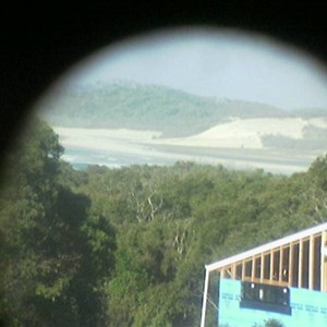 from one of the holiday homes at orchid (book through the shop, called The Trading Post), looking east to waddy point
