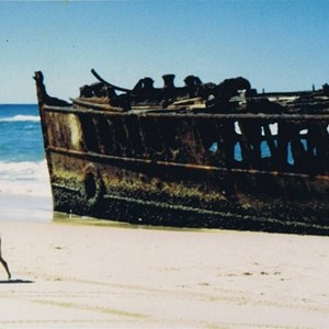 on the way to Orchid beach you will pass the wreck of the Maheno