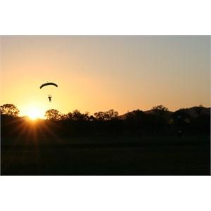 skydiver at sunset Toogoolawah Qld