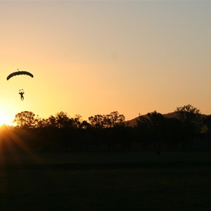 skydiver at sunset Toogoolawah Qld