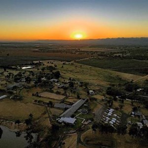 The Woolshed from the sky