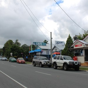 Canungra main street looking east