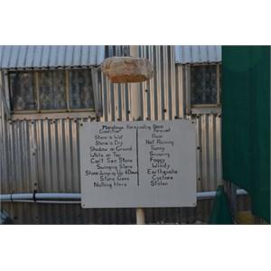 Maralinga Weather prediction stone