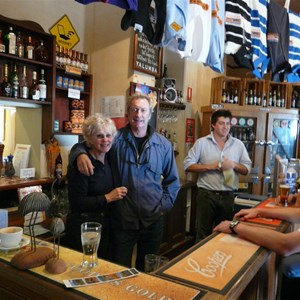 Behind the bar with Brian Brown in 2008