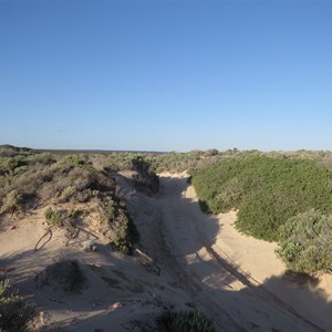 Track over beach foredune