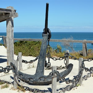 A reminder of the many ship wrecks in the area