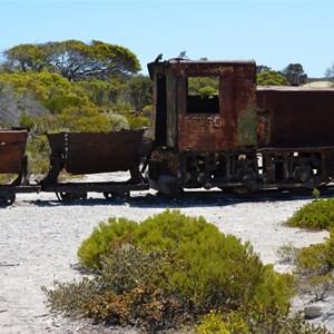 Old Gypsum Mining Train at Stenhouse Bay
