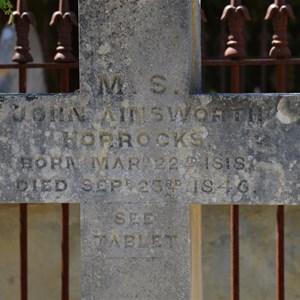 The Grave of John Horrocks 1846