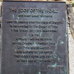 A plaque at the parking area