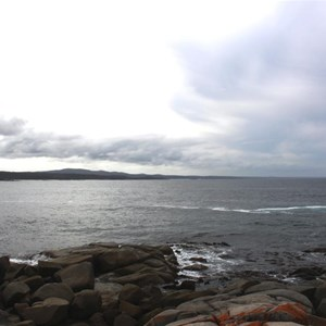 View over the Bay of Fires towards Eddystone Point