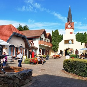 Part of the Swiss shopping village