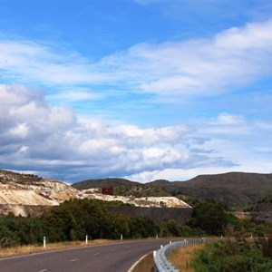 Mining areas on the road from Zeehan to Strahan