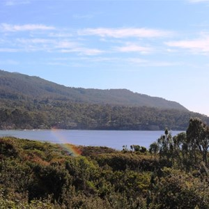 Eaglehawk Bay viewed from the south of Forester Peninsula