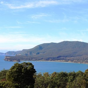 Pirates Bay from the lookout on the Forester Peninsula