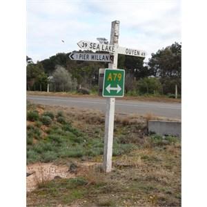 Pier Millan - sign on the Calder Highway