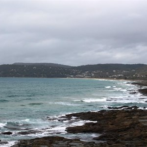 Approaching Lorne from the north east