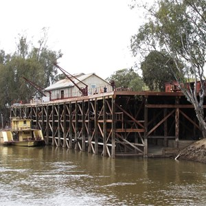Wharf built of redgum timber